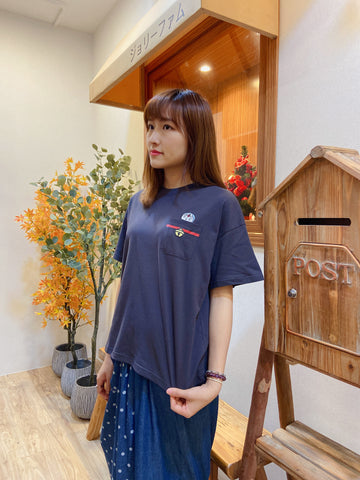 2104041 DOR Doraemon's Pocket Tee - Charcoal