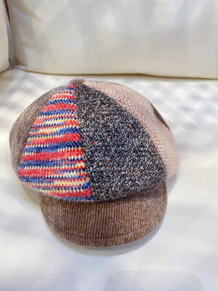 2101069  Mixed Colour Patterned News Boy Cap