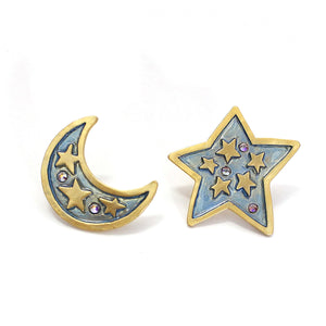 1001PA462 Palnart Poc Sky in the night Earrings