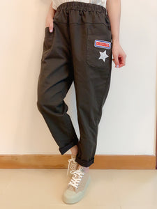 2008032 JF star pocket pants -GREEN