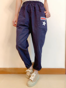 2008032 JF star pocket pants -NAVY
