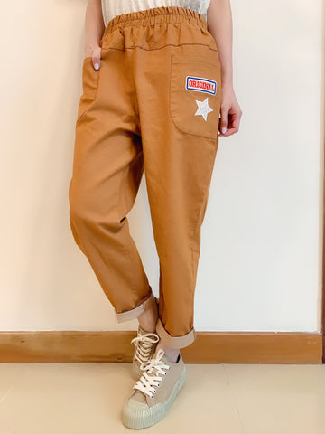 2008032 JF star pocket pants -CAMEL