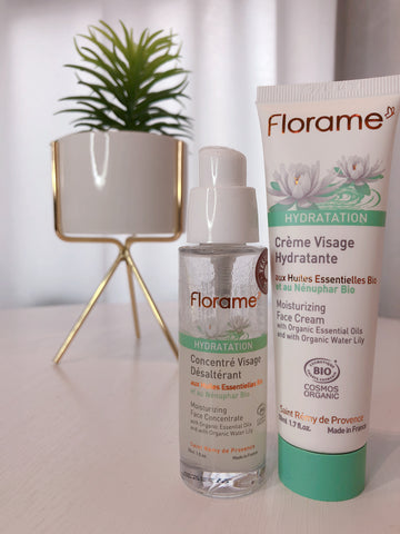 FLS02 FLORAME Organic Moistuizing Face concentrate & cream (0508) Set