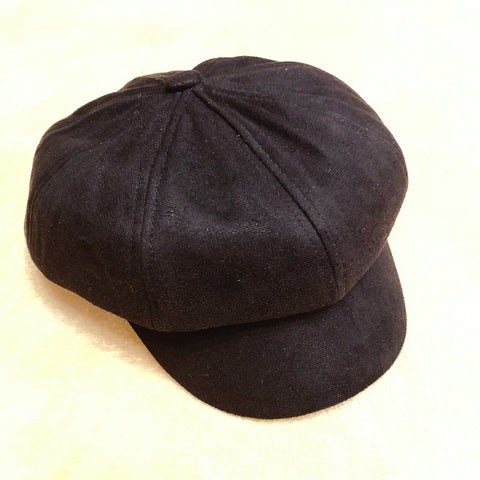 2010081 JF Autumn Newsboy Cap - BLACK
