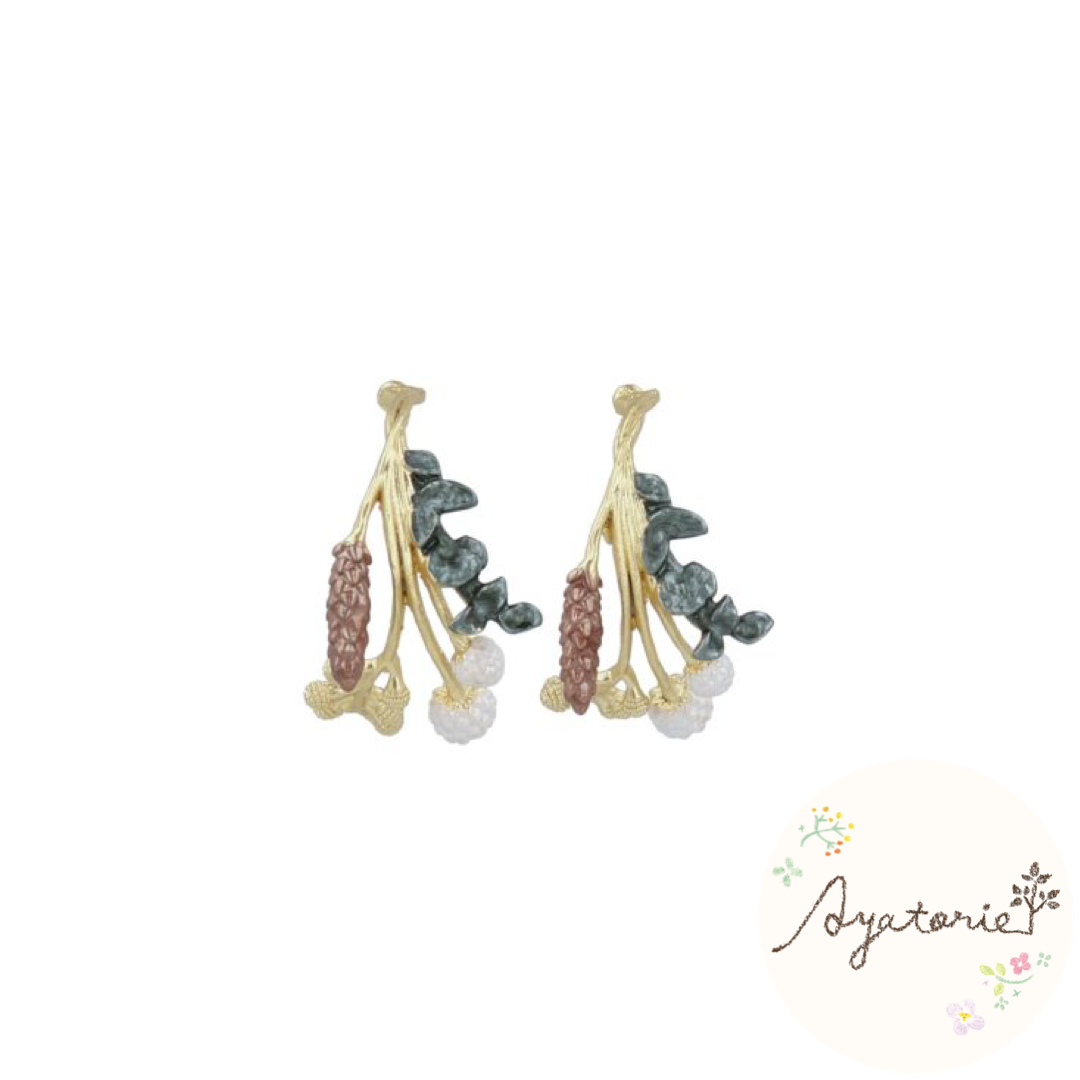 1001AY407Ayatorie Autumn Harvest Earrings
