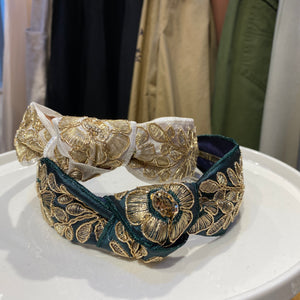 MLHA003  ML Gold Embroidery Headband