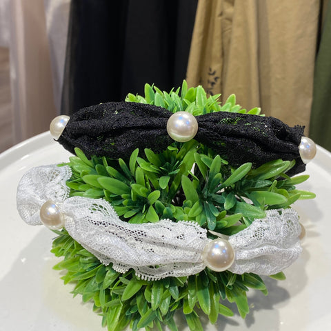 MLHA005  ML Lace Pearl Headband