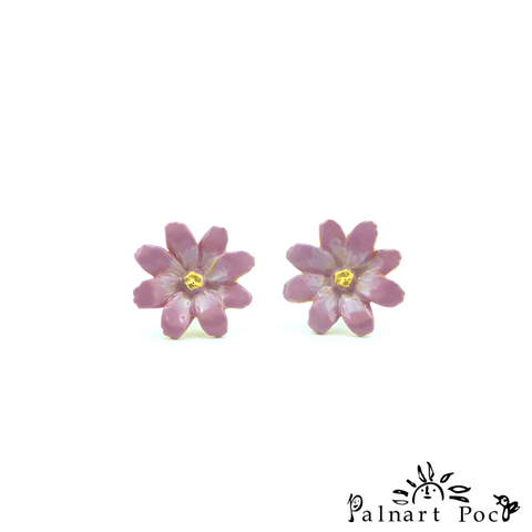 1001PA357GD Palnart Poc - Cosmea Pierced Earrings