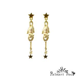 1001PA347 Palnart Poc - Catching Star Pierced Earrings