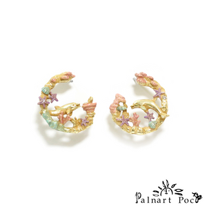 1001PA506 Palnart Poc - Ocean Pierced Earrings
