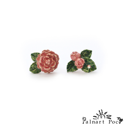1001PA429 Palnart Poc - Camellia Pierced Earrings