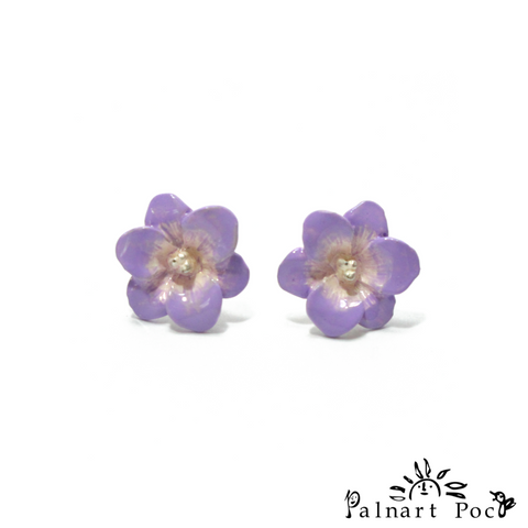 1001PA421SV Palnart Poc - Freesia Pierced Earrings