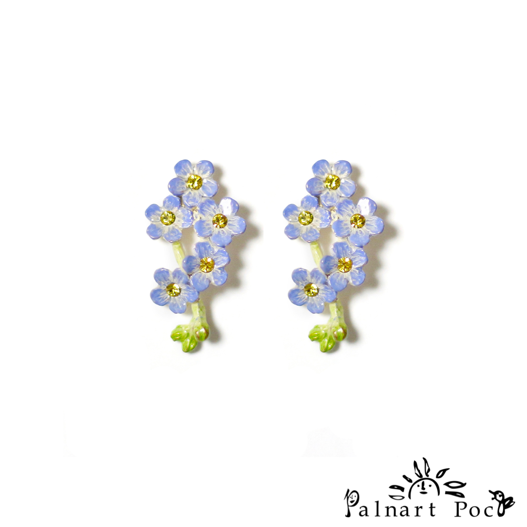 1001PA501 Palnart Poc - Forget me not Pierced Earrings