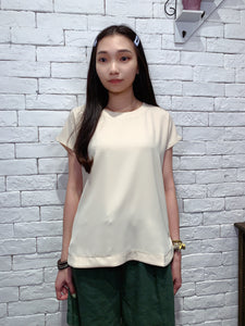 2006108 JF chiffon sleeveless top - BEIGE