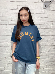 2006111 JP bi-colour words tee - Blue
