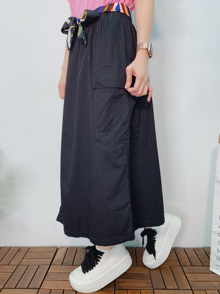 1906069 DD colour belt wrap skirt