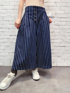 1910012 VI striped denim wide pants
