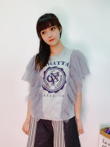 1907022 IF side tulle tee