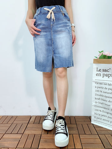 1905040 VI distressed denim skirt