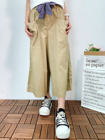 1905025 DD double pockets belted wide pants