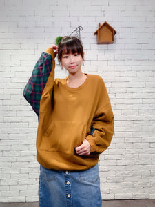 1910028 JP back checked pullover
