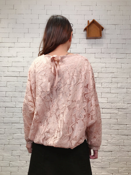 1911033 DD ribbon neck lace top