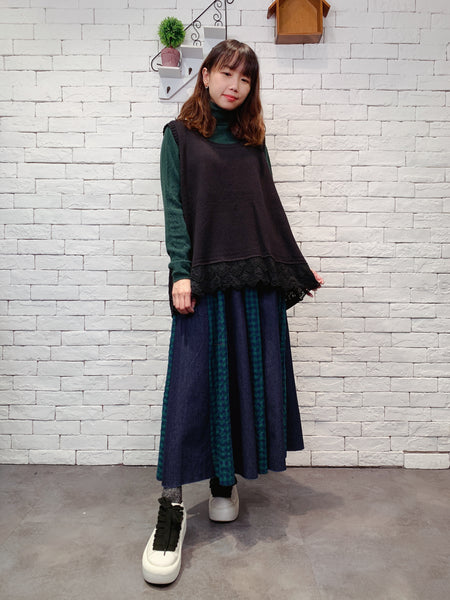 1911030 JF lace bottom knit vest