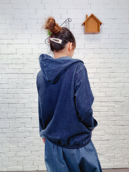 1909090 JF denim hood jacket