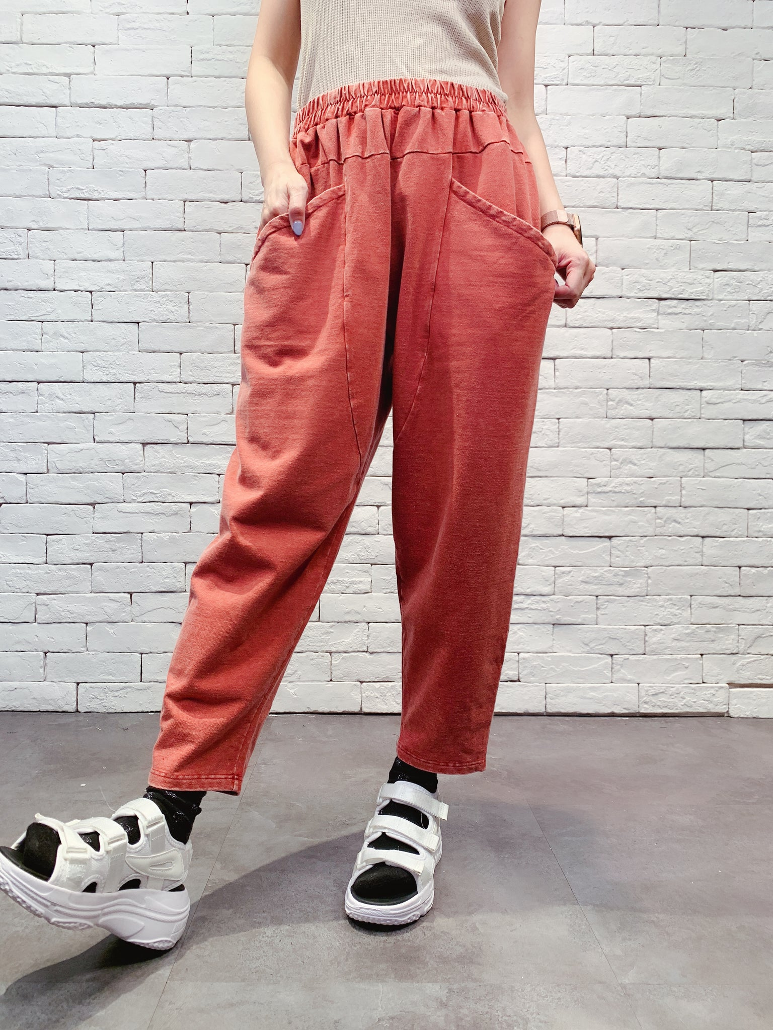 1909089 JF washed colour pants