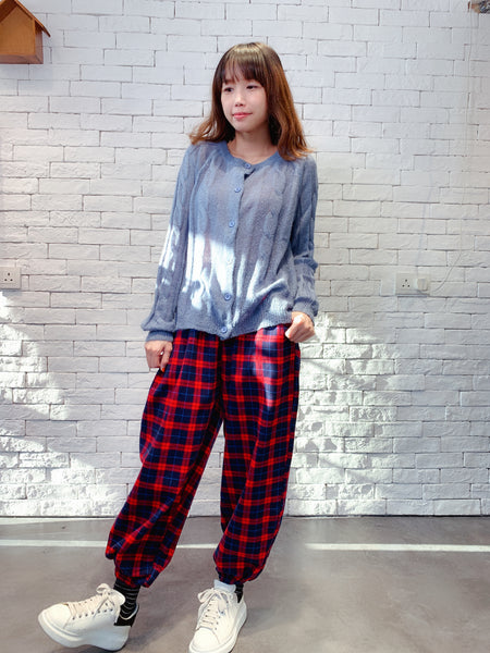 1910038 SP check pants