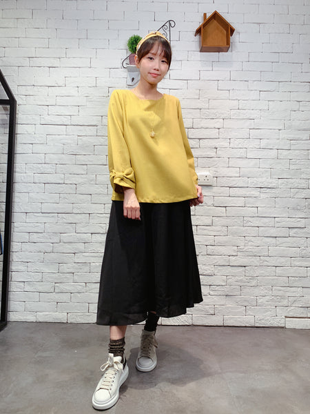 1909073 MIT bow sleeves top
