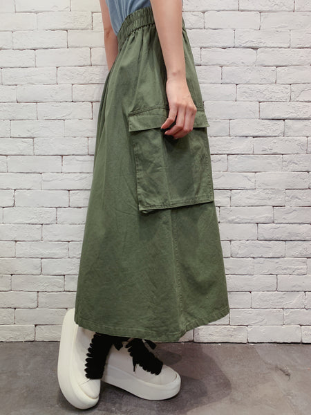 1911019 JF side pockets maxi skirt