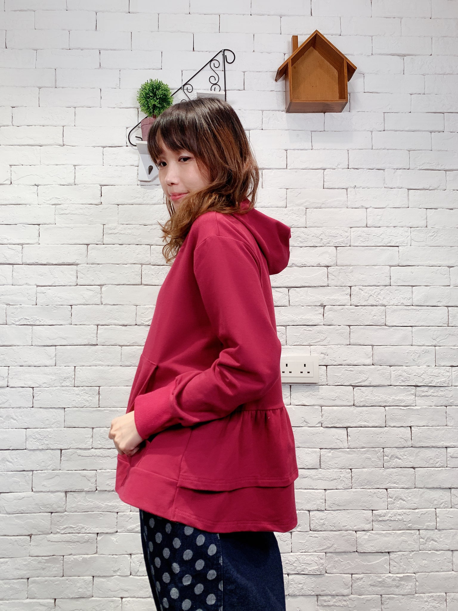 1910054 SP back ruffle layers jacket