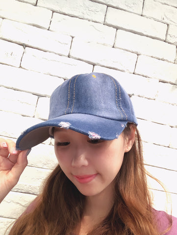 1904115 CH yellow stitched denim cap