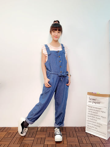 1907094 JF buttons denim overall