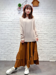 1910073 JF neck button plain knit top