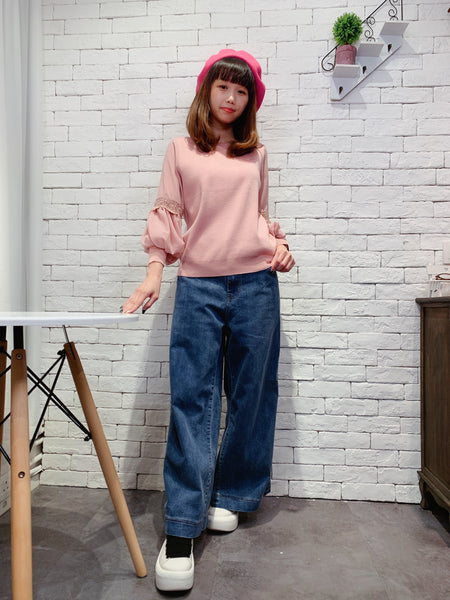 1911056 DD straight leg denim pants