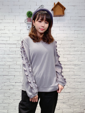 1910058 DD ruffle sleeves top