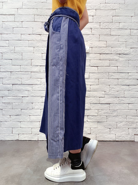 1910063 DD striped denim wrap pants