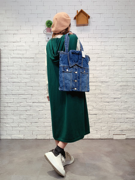 1910079 TM denim jacket bag
