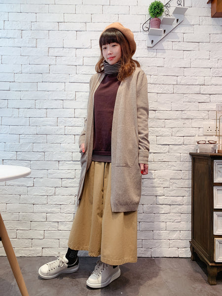 1911074 JF colour knit long cardigan