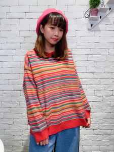 1912002 DD rainbow knit top