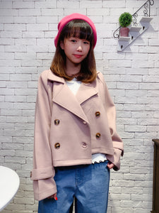 1912005 RO woolen short trench coat