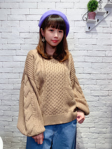 1912004 RO colour cable knit top