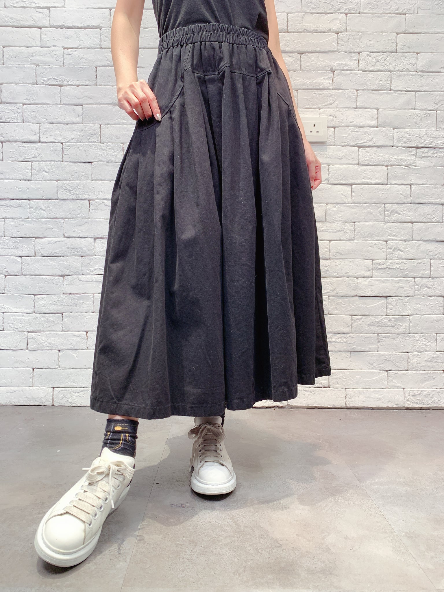 1910084 JF pleated maxi skirt
