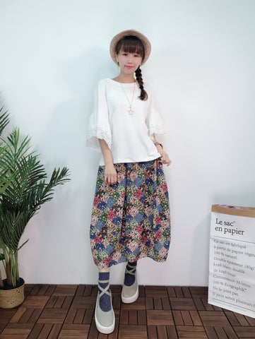 1903006 DD lace and pearls sleeves top