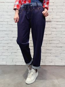 1911008 VI striped waist denim pants