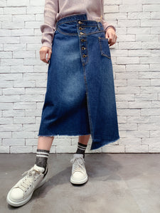 1911009 VI wrap waist denim skirt