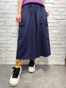 2001015 SP side pocket denim culottes