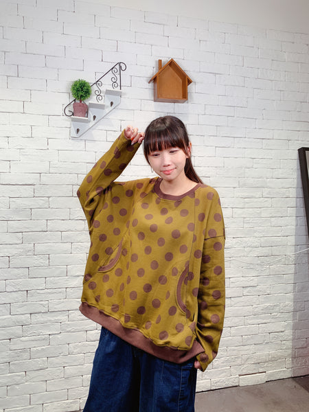 1910008 JF dots & pocket pullover